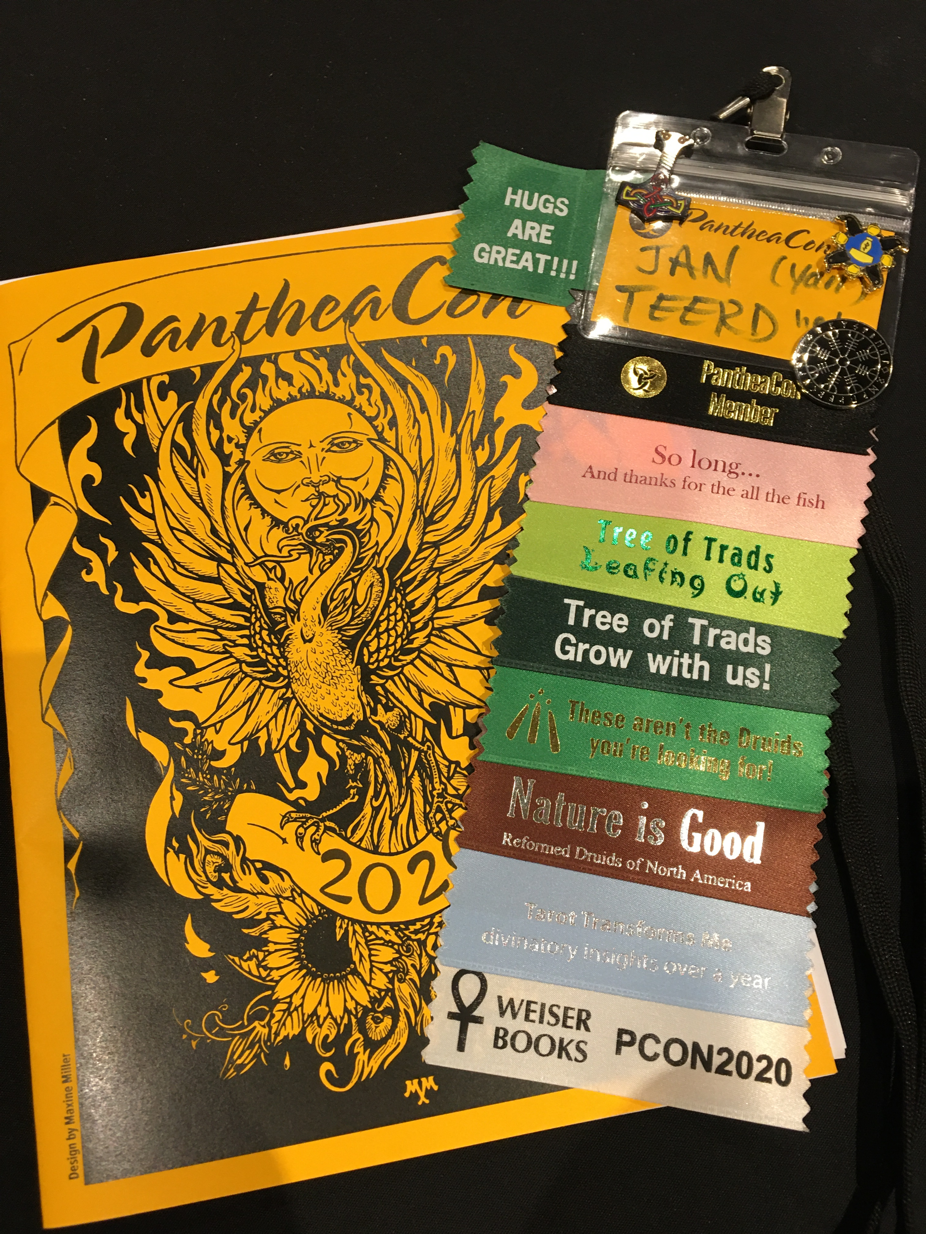 pantheacon program and ribbons